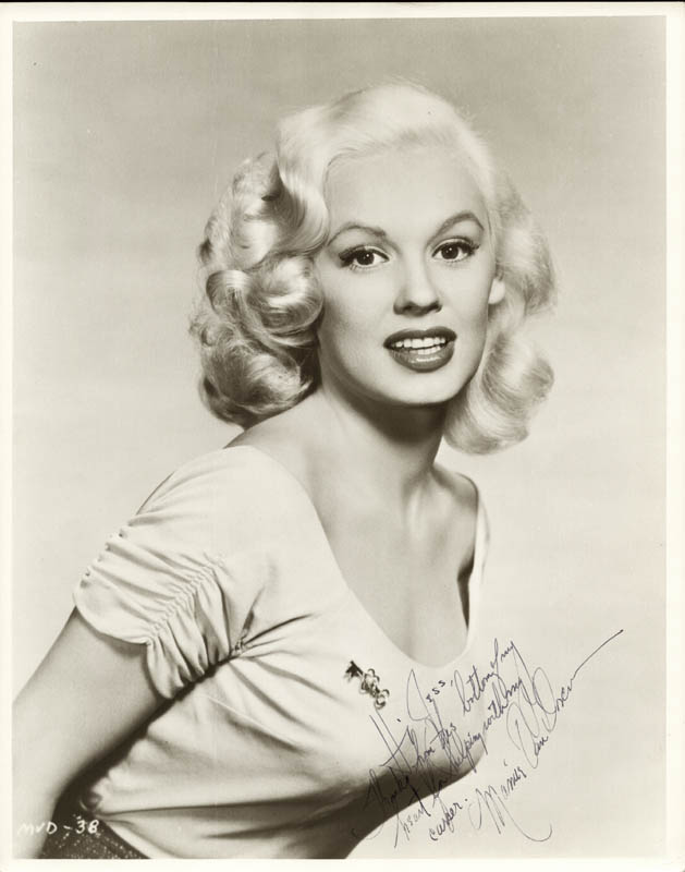 Image 1 for Mamie Van Doren - Autographed Inscribed Photograph - HFSID 257532