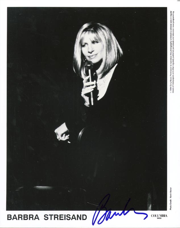 Image 1 for Barbra Streisand - Autographed Signed Photograph - HFSID 257538