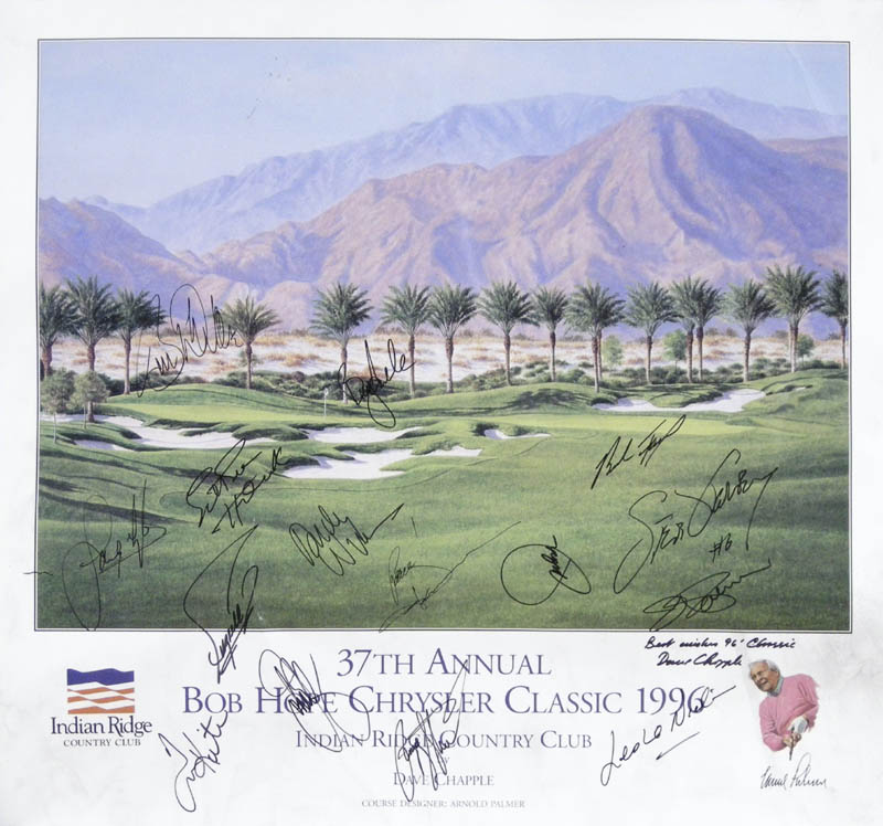 Image 1 for Payne Stewart - Autographed Signed Poster 1996 with co-signers - HFSID 257554