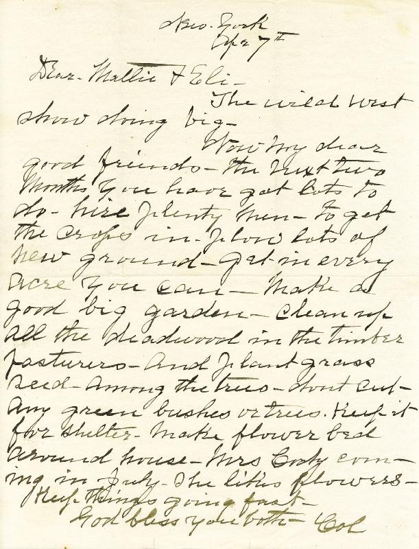 Image 1 for William F. 'Buffalo Bill' Cody - Autograph Letter Signed 4/7 - HFSID 257558