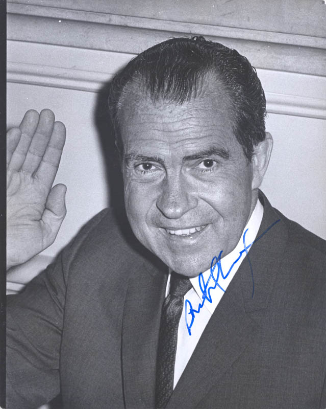 Image 1 for President Richard M. Nixon - Autographed Signed Photograph - HFSID 257937
