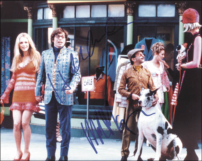Image 1 for Austin Powers: The Spy Who Shagged Me Movie Cast - Autographed Signed Photograph co-signed by: Mike Myers, Heather Graham - HFSID 257966