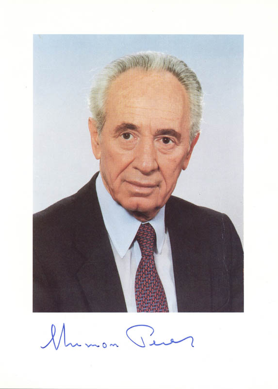 Image 1 for Prime Minister Shimon Peres - Autographed Signed Photograph - HFSID 258049