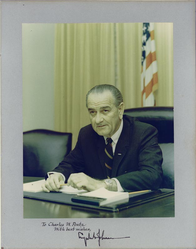Image 1 for President Lyndon B. Johnson - Inscribed Photograph Mount Signed - HFSID 258082