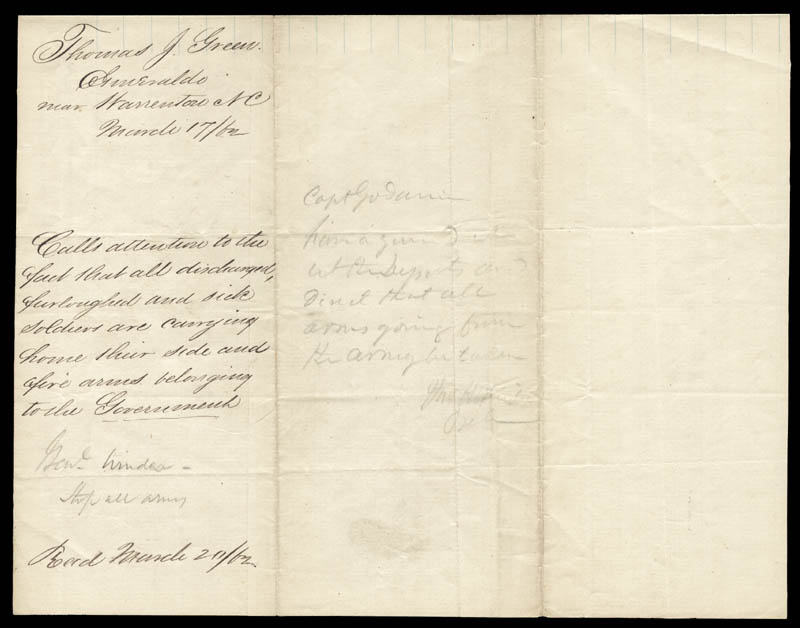 Image 3 for President Jefferson Davis (Confederate States Of America) - Autograph Endorsement Signed Circa 1862 with co-signers - HFSID 258505