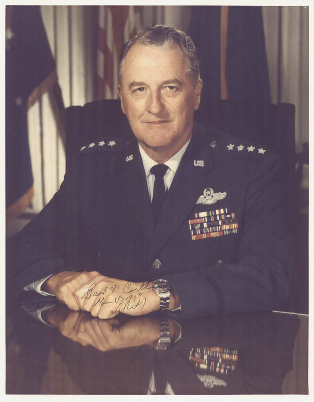 Image 1 for General Paul K. Carlton - Autographed Signed Photograph - HFSID 258657