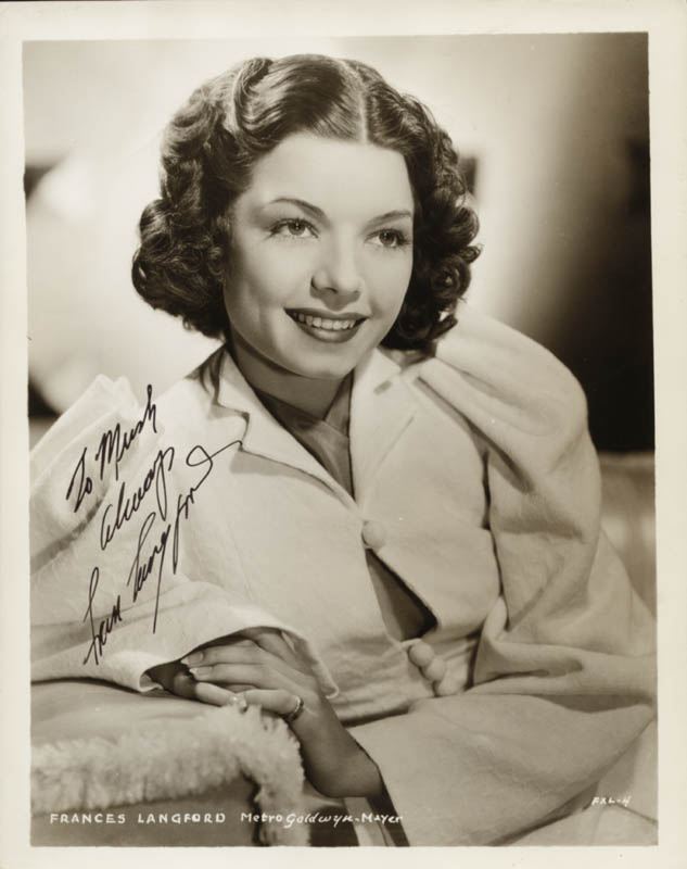 Image 1 for Frances Langford - Autographed Inscribed Photograph - HFSID 258821