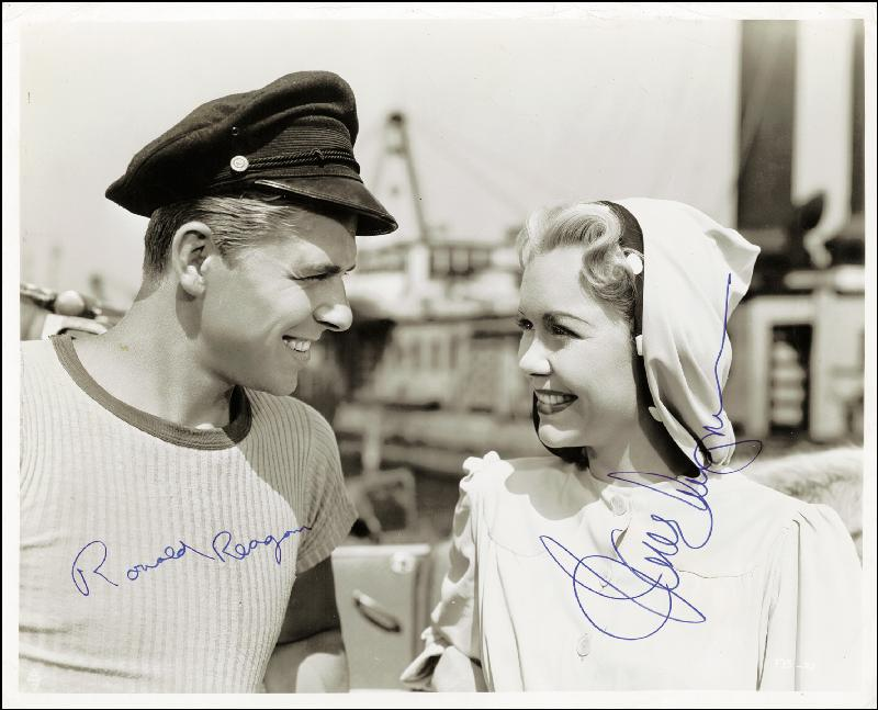 Image 1 for Tugboat Annie Sails Again Movie Cast - Autographed Signed Photograph co-signed by: Jane Wyman, President Ronald Reagan - HFSID 258846