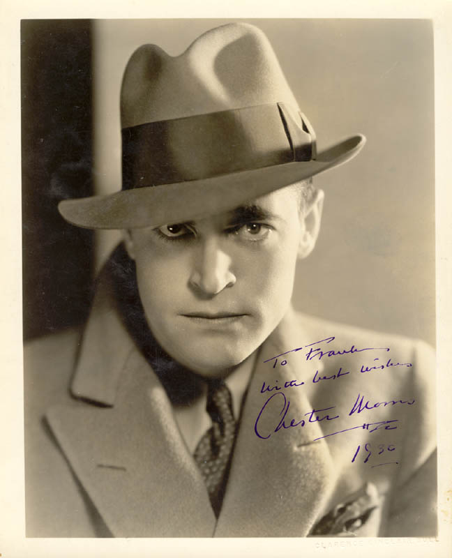 Image 1 for Chester Morris - Autographed Inscribed Photograph 1936 - HFSID 258880