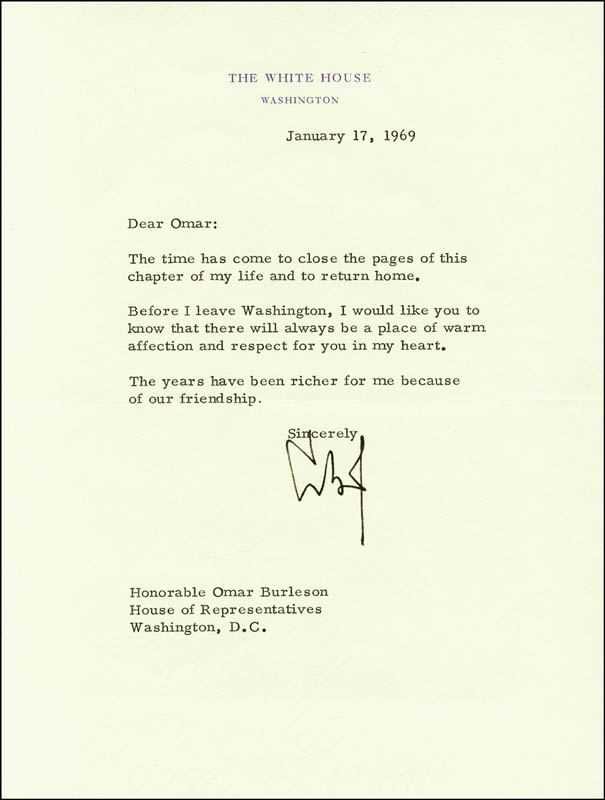 Image 1 for President Lyndon B. Johnson - Typed Letter Signed 01/17/1969 - HFSID 259007