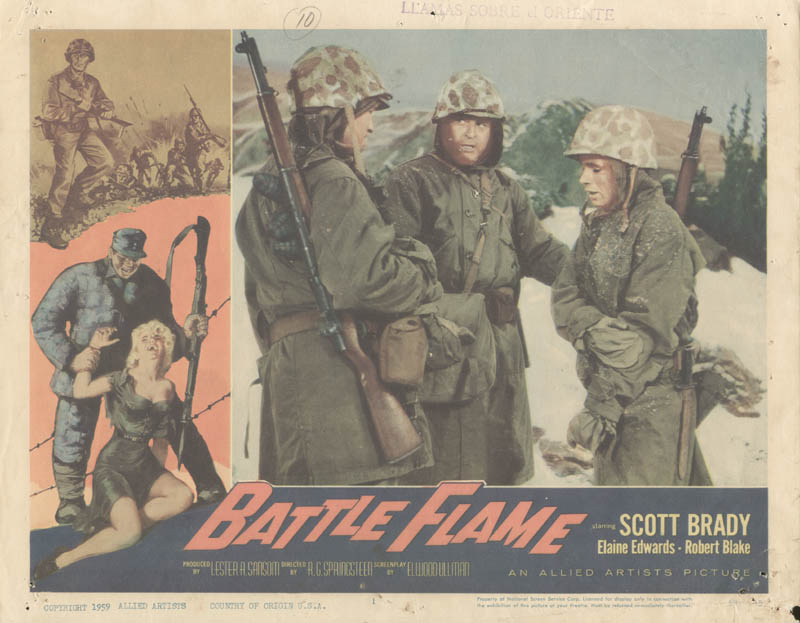 Image 1 for Battle Flame Movie Cast - Lobby Card Unsigned (Usa) 1959 - HFSID 259043