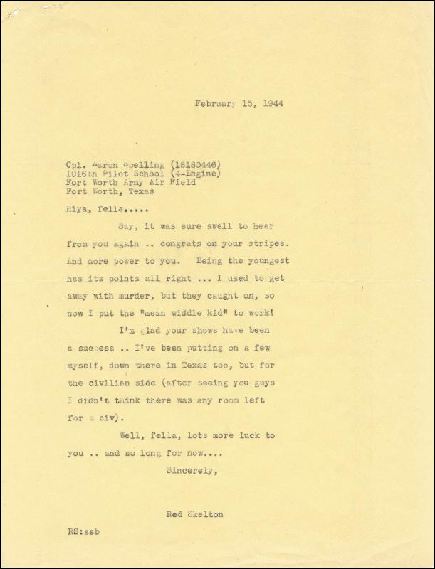 Image 3 for Aaron Spelling - Typed Letter Signed 01/03/1944 - HFSID 259147