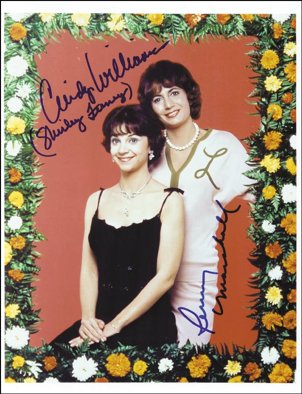 Image 1 for Laverne & Shirley TV Cast - Autographed Signed Photograph co-signed by: Penny Marshall, Cindy Williams - HFSID 259216