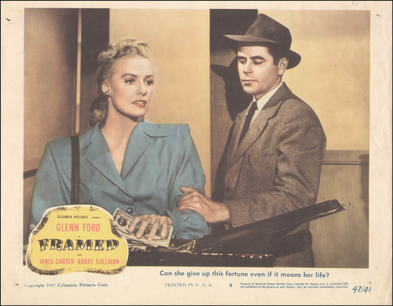 Image 1 for Framed Movie Cast - Lobby Card Unsigned (Usa) 1947 - HFSID 259330