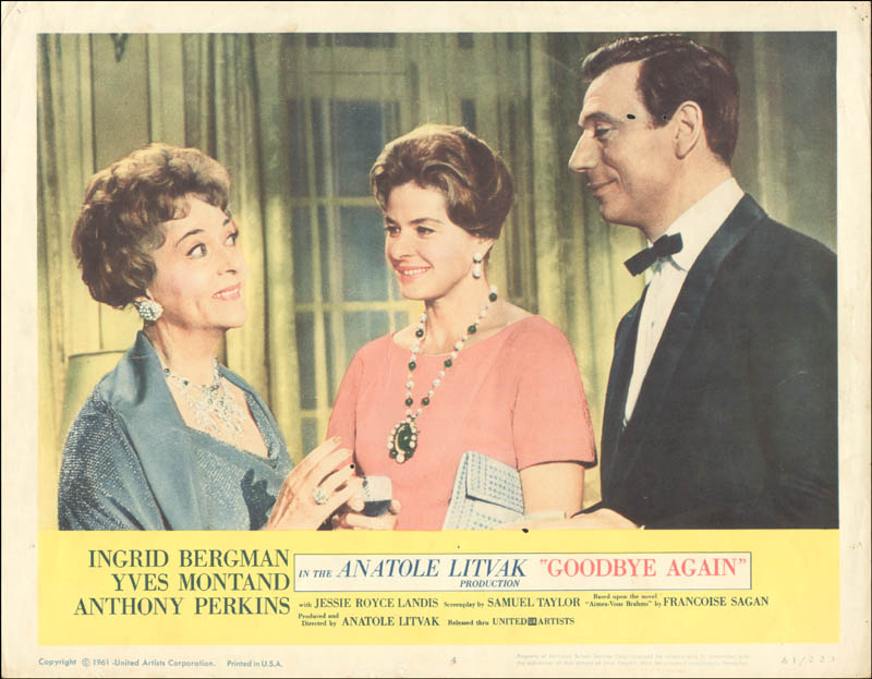 Image 1 for Goodbye Again Movie Cast - Lobby Card Unsigned (Usa) 1961 - HFSID 259333