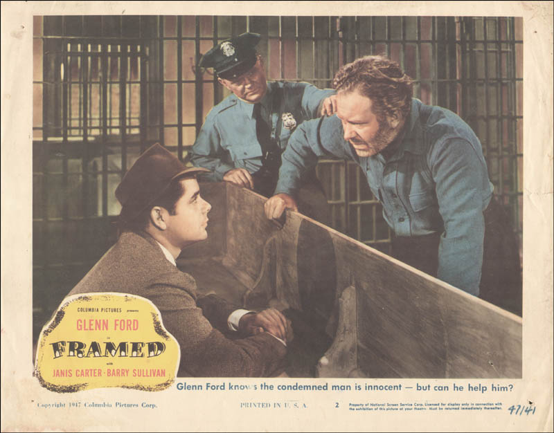Image 1 for Framed Movie Cast - Lobby Card Unsigned (Usa) 1947 - HFSID 259334