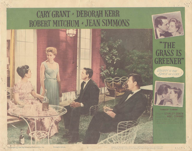 Image 1 for Grass Is Greener Movie Cast - Lobby Card Unsigned (Usa) 1961 - HFSID 259348