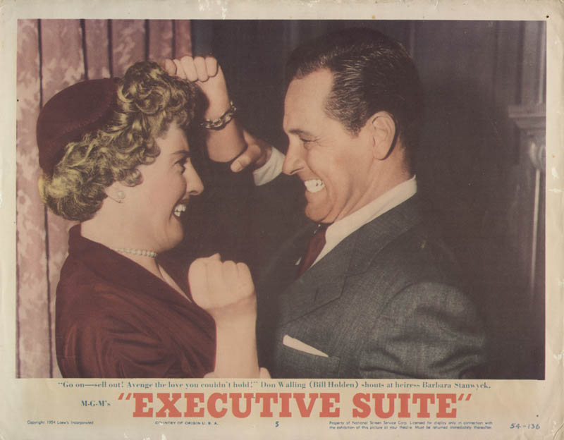 Image 1 for Executive Suite Movie Cast - Lobby Card Unsigned (Usa) 1954 - HFSID 259382