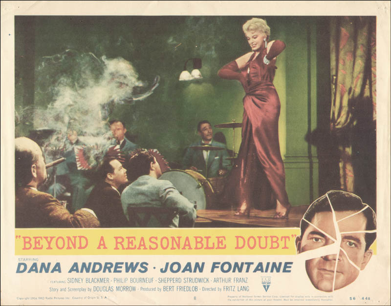 Beyond A Reasonable Doubt Movie Cast - Lobby Card Unsigned