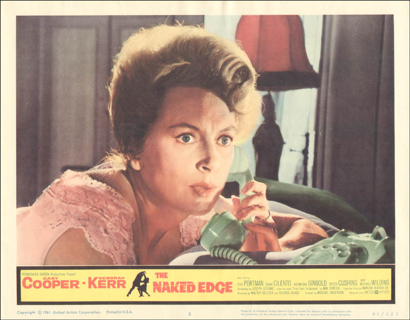 Image 1 for Naked Edge Movie Cast - Lobby Card Unsigned (Usa) 1961 - HFSID 259425