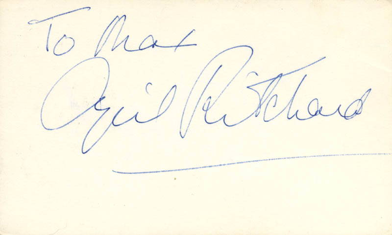Image 1 for Cyril Ritchard - Inscribed Signature - HFSID 25947