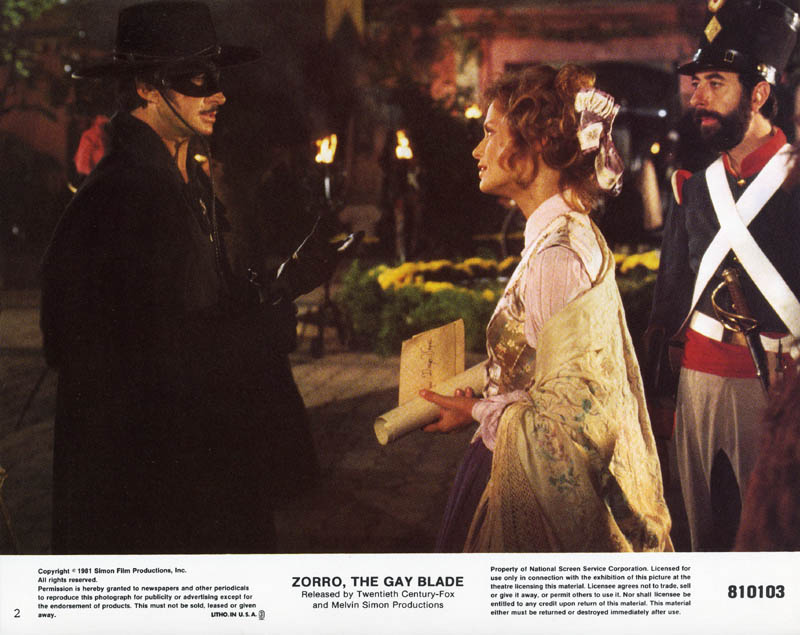 Image 1 for Zorro: The Gay Blade Movie Cast - Lobby Card Unsigned (Usa) - HFSID 259581