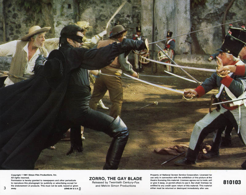 Image 1 for Zorro: The Gay Blade Movie Cast - Lobby Card Unsigned (Usa) - HFSID 259582