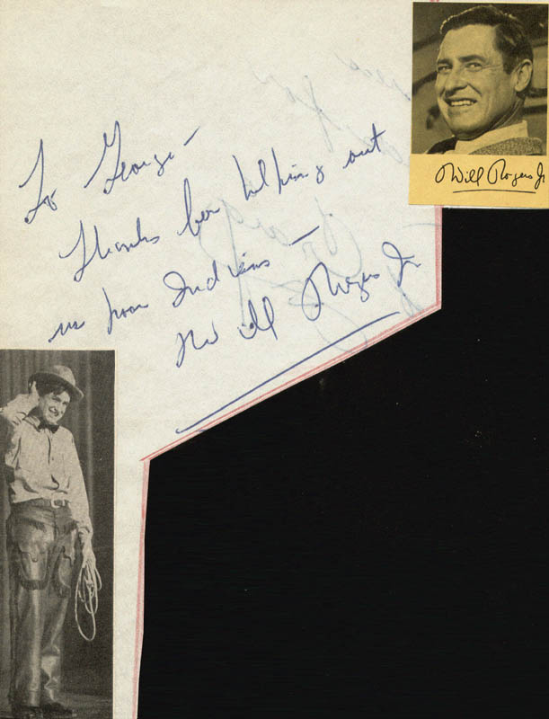 Image 1 for Will Rogers Jr. - Autograph Note Signed - HFSID 25968