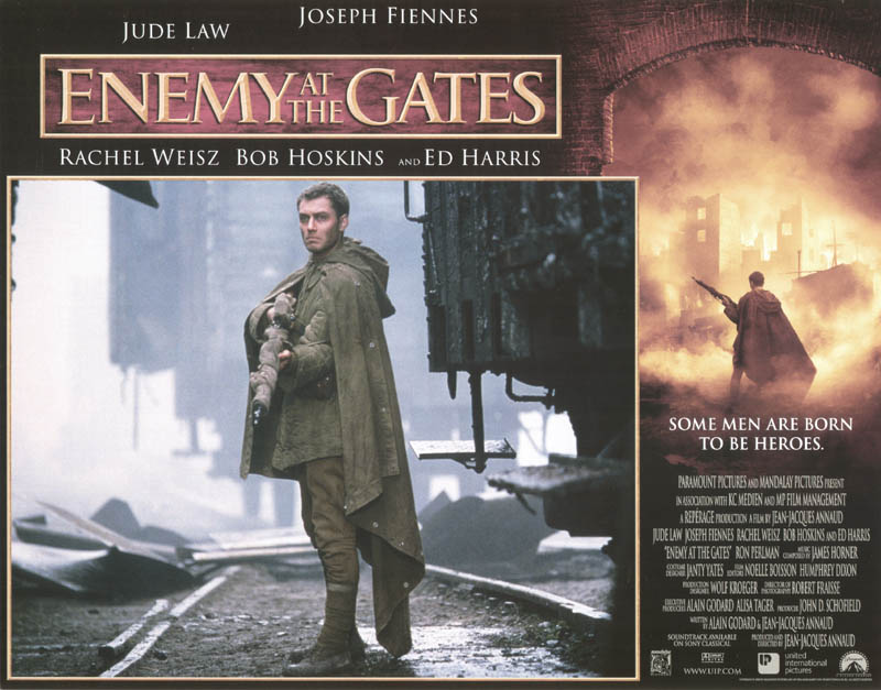 Image 1 for Enemy At The Gates Movie Cast - Lobby Card Unsigned (Usa) 2000 - HFSID 259781