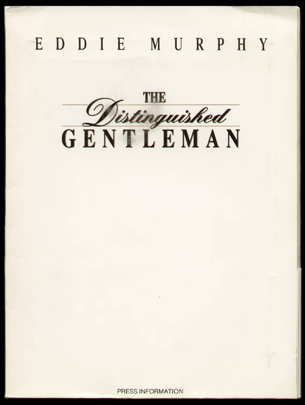 Image 1 for The Distinguished Gentleman Movie Cast - Press Kit Unsigned - HFSID 260071