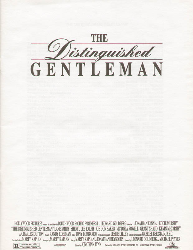 Image 3 for The Distinguished Gentleman Movie Cast - Press Kit Unsigned - HFSID 260071