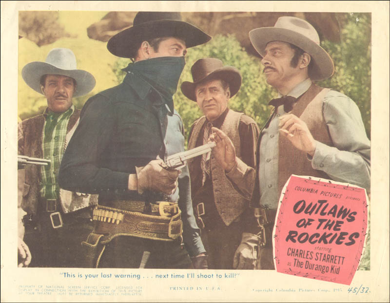 Image 1 for Outlaws Of The Rockies Movie Cast - Lobby Card Unsigned (Usa) 1945 - HFSID 260153
