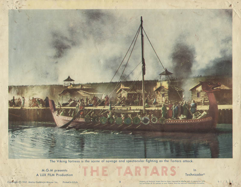 Image 1 for Tartars Movie Cast - Lobby Card Unsigned (Usa) 1961 - HFSID 260186