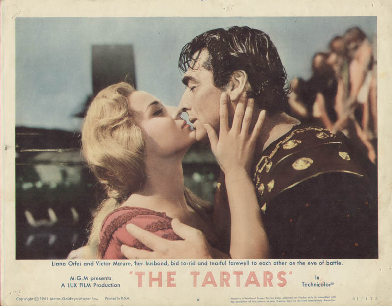 Image 1 for Tartars Movie Cast - Lobby Card Unsigned (Usa) 1961 - HFSID 260190