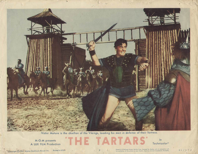 Image 1 for Tartars Movie Cast - Lobby Card Unsigned (Usa) 1961 - HFSID 260191