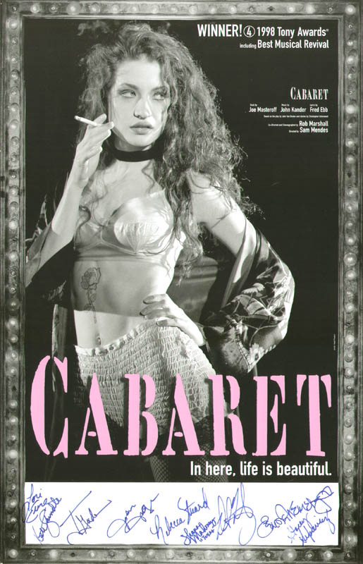 Image 1 for Cabaret Play Cast - Autographed Signed Poster with co-signers - HFSID 260342