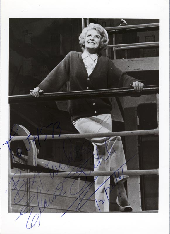 Image 1 for Elaine Stritch - Autographed Inscribed Photograph 12/22/1961 - HFSID 26123