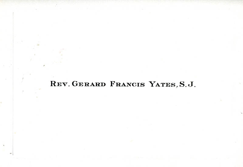 Image 3 for Reverend Gerard F. Yates, S.J. - Typed Note Signed - HFSID 261430