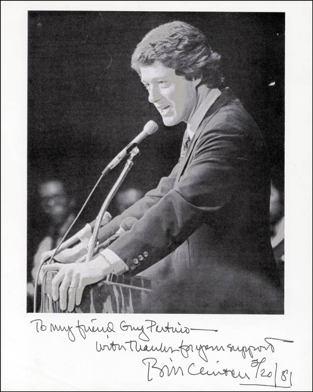 Image 1 for President William J. 'Bill' Clinton - Autographed Inscribed Photograph 02/20/1981 - HFSID 261565