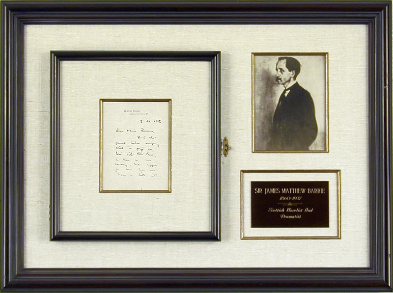 Image 1 for Sir James M. Barrie - Autograph Letter Signed 02/03/1906 - HFSID 261609