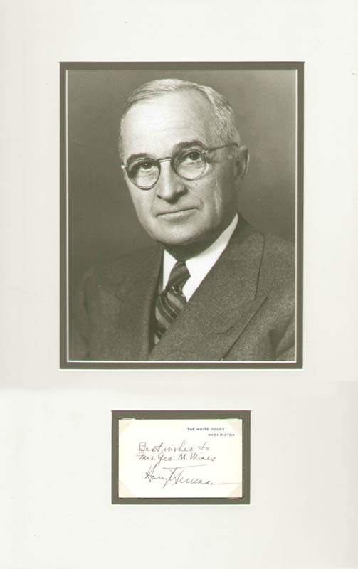 Image 1 for President Harry S Truman - Collection - HFSID 261643