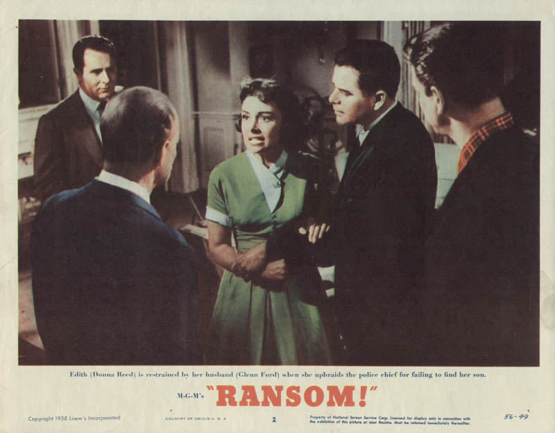 Image 1 for Ransom Movie Cast - Lobby Card Unsigned (Usa) 1956 - HFSID 261681