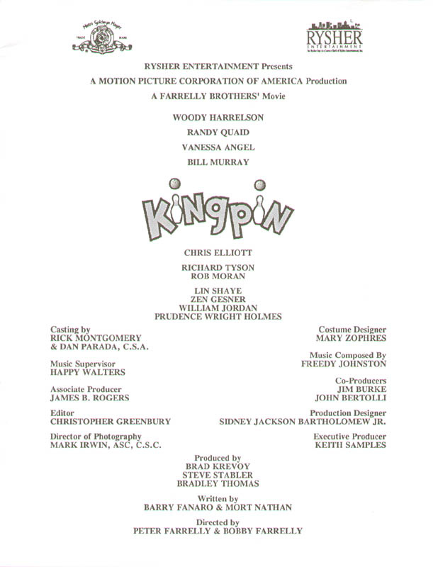 Image 3 for Kingpin Movie Cast - Press Kit Unsigned - HFSID 261798