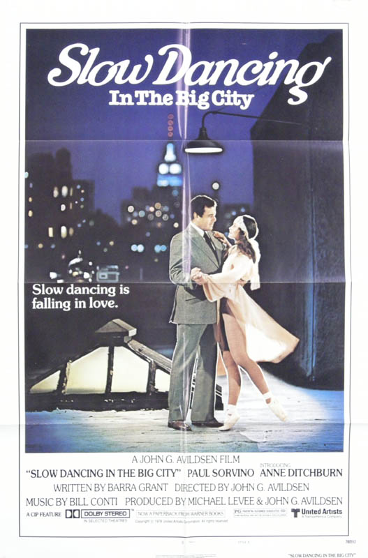 Image 1 for Slow Dancing In The Big City Movie Cast - Poster Unsigned Circa 1978 - HFSID 261851