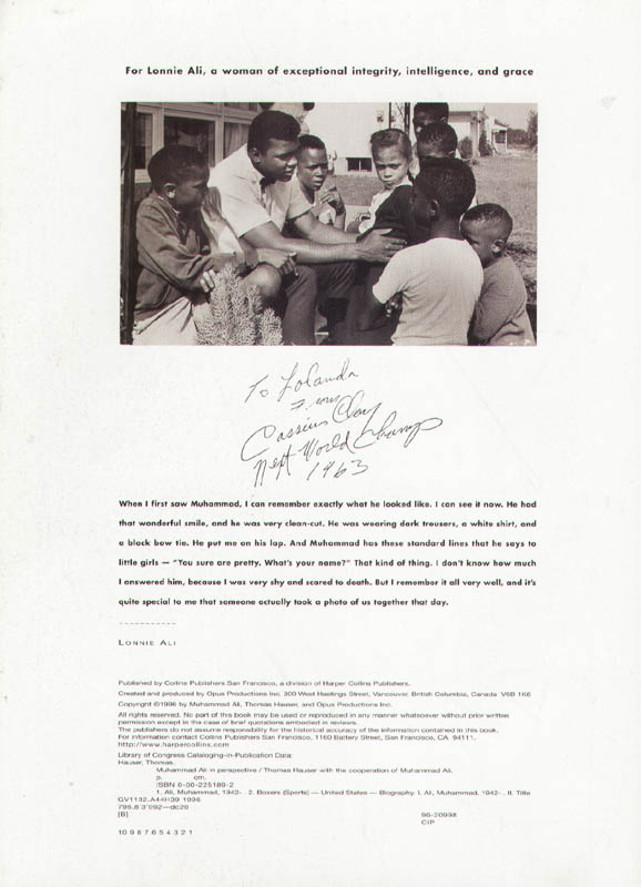 Image 3 for Muhammad 'The Greatest' Ali - Book Unsigned Circa 1996 - HFSID 261979