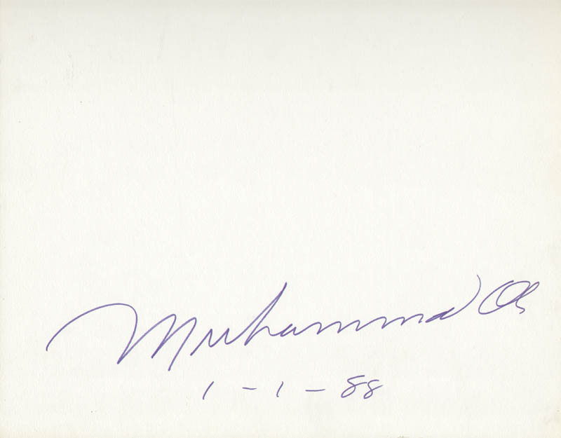 Image 1 for Muhammad 'The Greatest' Ali - Autograph 01/01/1988 - HFSID 261984