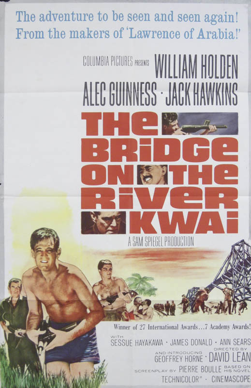 Bridge On The River Kwai Movie Cast Original One Sheet Unsigned 1957 Historyforsale Item 262059