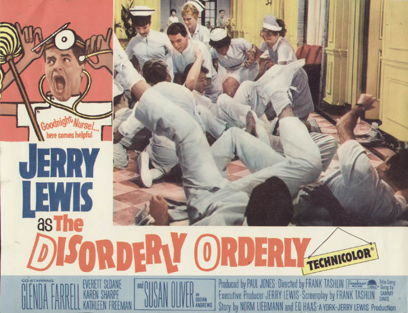 Image 1 for Disorderly Orderly Movie Cast - Lobby Card Unsigned (Usa) 1964 - HFSID 262090