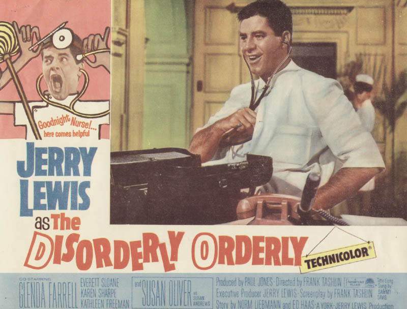 Disorderly Orderly Movie Cast Lobby Card Unsigned Usa 1964