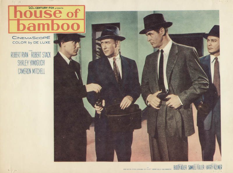Image 1 for House Of Bamboo Movie Cast - Lobby Card Unsigned (Usa) 1955 - HFSID 262200